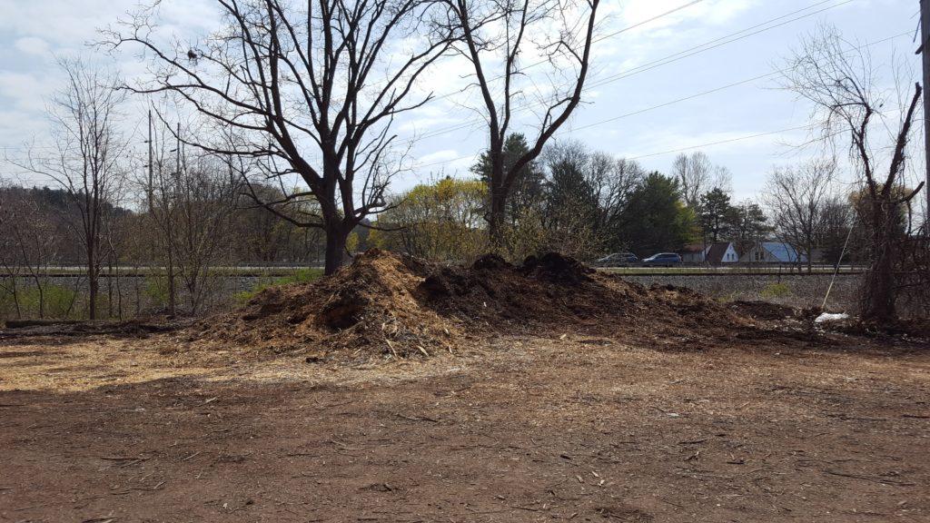 municipal woodchip pile